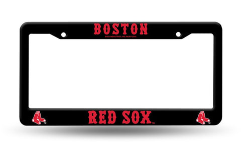 Boston Red Sox Black Plastic License Plate Frame NEW Free Shipping!