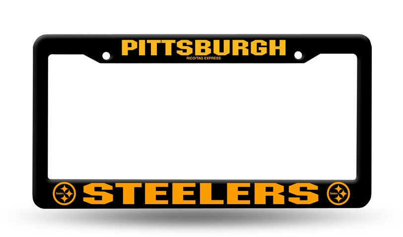Pittsburgh Steelers Black License Plate Cover Frame New