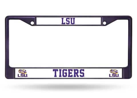 LSU Tigers Color Chrome Metal License Plate Frame NEW Free Shipping! Purple