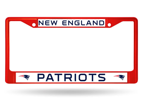 New England Patriots Color Chrome Metal License Plate Frame NEW Free Shipping! Red