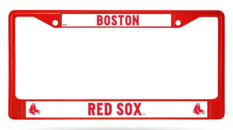 Boston Red Sox Color Chrome Metal License Plate Frame NEW Free Shipping! Red