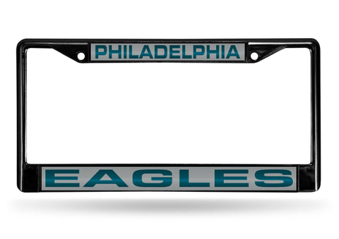 Philadelphia Eagles Black Laser Cut Metal License Plate Cover Frame NEW!!