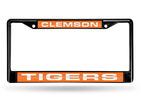 Clemson Tigers Black Laser Cut Metal License Plate Cover Frame NEW!!