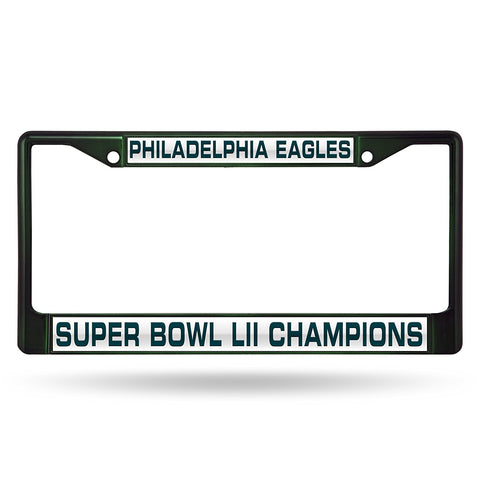 Philadelphia Eagles Super Bowl 52 Champions Laser Cut Metal License Plate Cover Frame