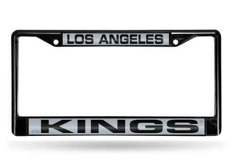 Los Angeles Kings Black Laser Cut Metal License Plate Cover Frame NEW!!