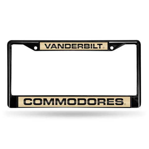 Vanderbilt Commodores Black Laser Cut Metal License Plate Cover Frame NEW!!