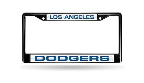 Los Angeles Dodgers Black Laser Cut Metal License Plate Cover Frame NEW!!