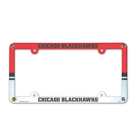 Chicago Blackhawks Full Color License Plate Cover Plastic
