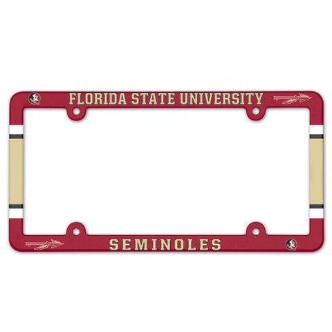 Florida State Seminoles Full Color License Plate Cover Plastic