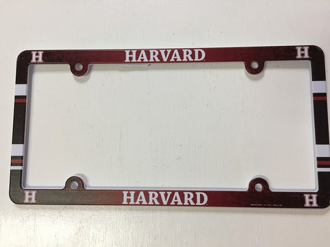 Harvard Crimson Full Color License Plate Cover Plastic – Hub City Sports