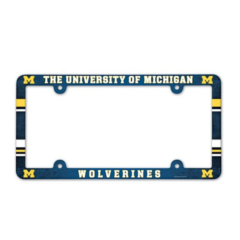 Michigan Wolverines Full Color License Plate Cover Plastic