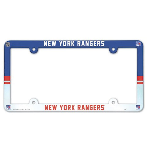 New York Rangers Full Color License Plate Cover Plastic