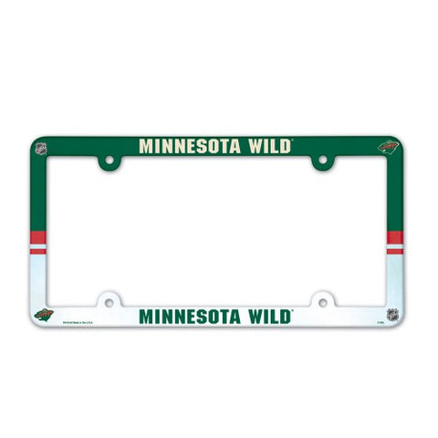 Minnesota Wild Full Color License Plate Cover Plastic