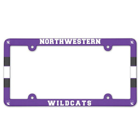Northwestern Wildcats Full Color License Plate Cover