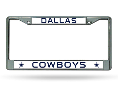 Dallas Cowboys Silver Chrome Metal License Plate Frame NEW Free Shipping!