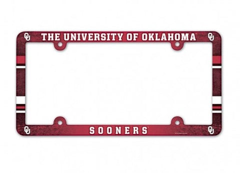 Oklahoma Sooners Full Color License Plate Cover Frame NEW!!