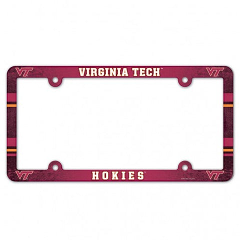 Virginia Tech Hokies Full Color License Plate Cover Frame NEW!!