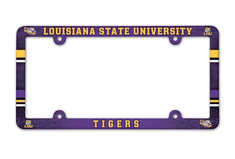 LSU Tigers Full Color License Plate Cover Frame NEW!!