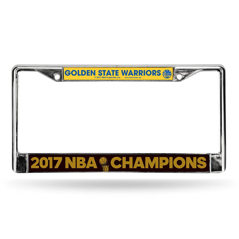 Golden State Warriors NBA Champions Chrome Metal License Plate Frame NEW Free Shipping!