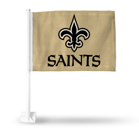 New Orleans Saints Car Flag NEW! NFL Free Shipping! Gold with Pole
