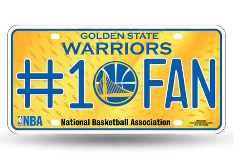 Golden State Warriors #1 Fan Aluminum License Plate NEW!!