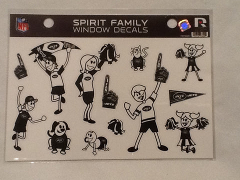 New York Jets Spirit Family Window Decals 8 X 5.5 NEW!! Car Window NFL