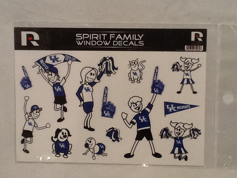 Kentucky Wildcats Spirit Family Window Decals 8 X 5.5 NEW!! Car Window NCAA