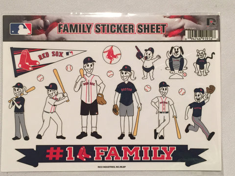 Boston Red Sox Spirit Family Window Decals 8 X 5.5 NEW!! Car Window MLB