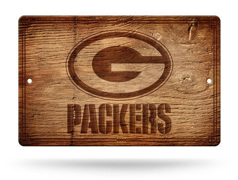 "Green Bay Packers Wall Sign NEW! 11""X17"" Faux Antique Wood Finish Man Cave NFL"