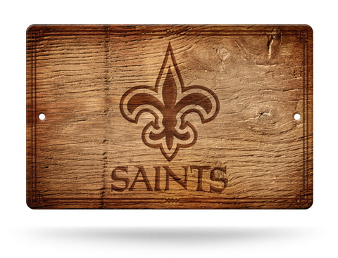 "New Orleans Saints Wall Sign NEW! 11""X17"" Faux Antique Wood Finish Man Cave"
