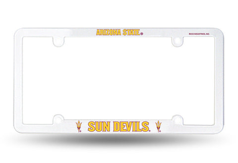 Arizona State Sun Devils White Plastic License Plate Frame NEW Free Shipping!