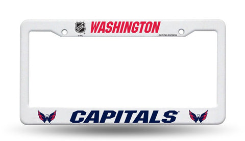 Washington Capitals White Plastic License Plate Frame NHL NEW! Free Shipping