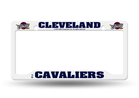 Cleveland Cavaliers White Plastic License Plate Frame NEW Free Shipping!