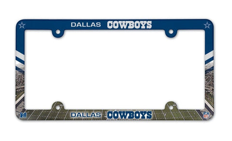 Dallas Cowboys Full Color License Plate Cover Frame NEW!!
