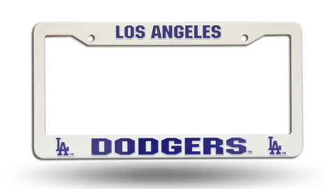 Los Angeles Dodgers White Plastic License Plate Frame NEW Free Shipping!