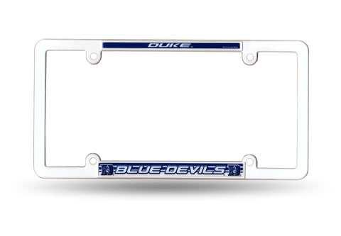 Duke Blue Devils White Plastic License Plate Frame NCAA NEW! Free Shipping