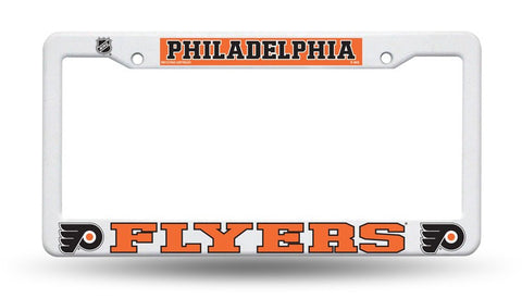 Philadelphia Flyers White Plastic License Plate Frame NHL NEW! Free Shipping