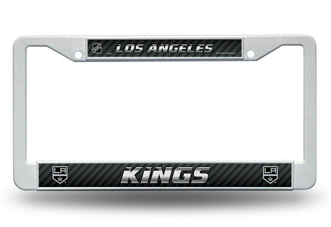 Los Angeles Kings White Plastic License Plate Frame NHL NEW! Free Shipping