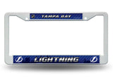 Tampa Bay Lightning White Plastic License Plate Frame NEW Free Shipping!