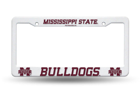 Mississippi State Bulldogs White Plastic License Plate Frame NCAA NEW! Free Shipping