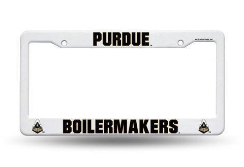 Purdue Boilermakers White Plastic License Plate Frame  3D NCAA NEW! Free Shipping