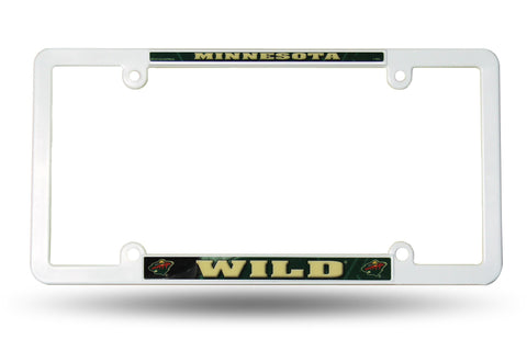 Minnesota Wild White Plastic License Plate Frame NEW! Free Shipping