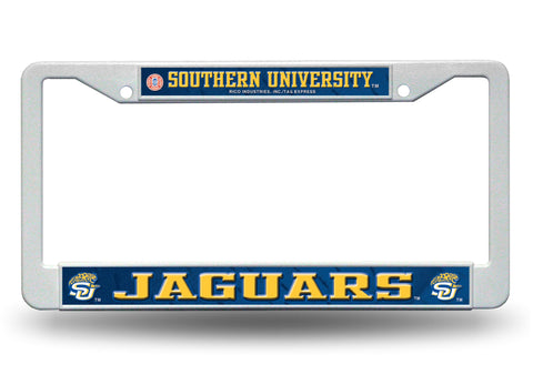 Southern Jaguars White Plastic License Plate Frame NCAA NEW! Free Shipping