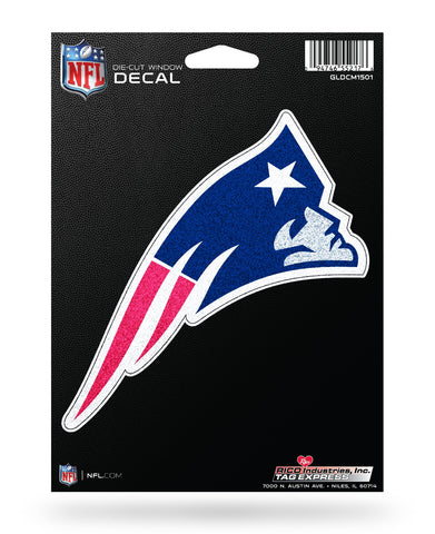 New England Patriots *Bling* Die Cut Decal NEW 3 X 7 Window Car or Laptop! Glitter