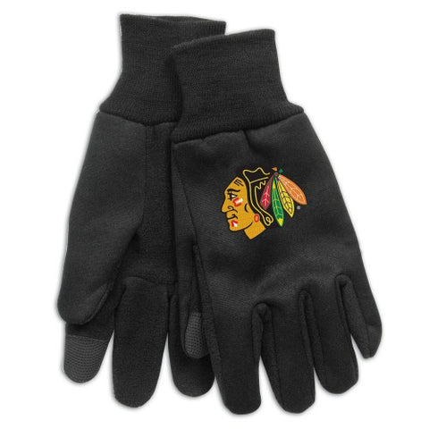 Chicago Blackhawks Technology Gloves NEW!