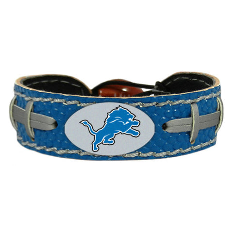 Detroit Lions Team Color Leather Football Bracelet NEW!! NFL Free shipping