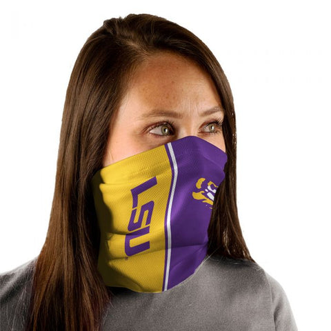LSU Tigers Gaiter Mask One Size Fits Most NEW! Vertical