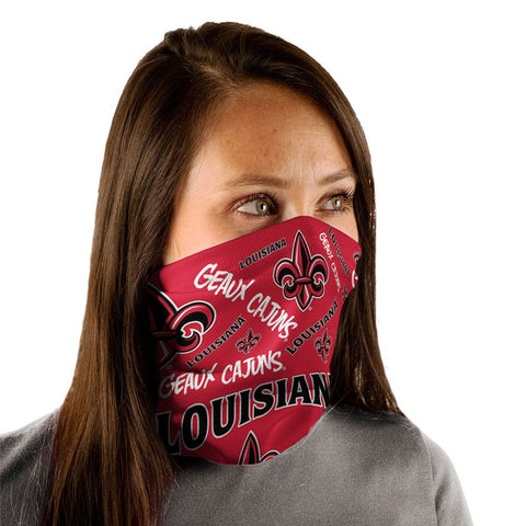 Louisiana Ragin Cajuns Gaiter Mask One Size Fits Most NEW! Scatter