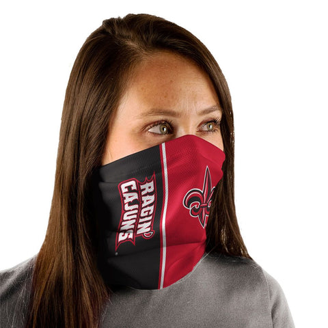 Louisiana Ragin Cajuns Gaiter Mask One Size Fits Most NEW! Vertical