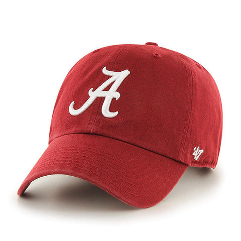 Alabama Crimson Tide Hat NEW '47 Brand Clean Up Adjustable One Size Fits All